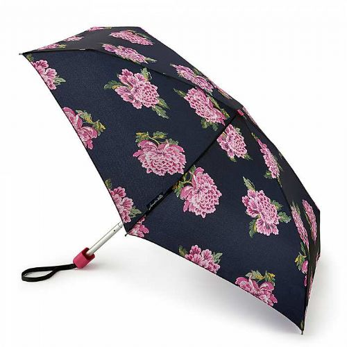 Joules Tiny-2 Chinoise Flower Navy Umbrella